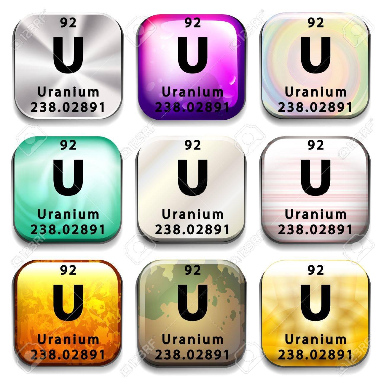 Una tabla peridica de uranio que muestra sobre un fondo blanco una tabla peridica de uranio que muestra sobre un fondo blanco foto de archivo 35519963 urtaz Images