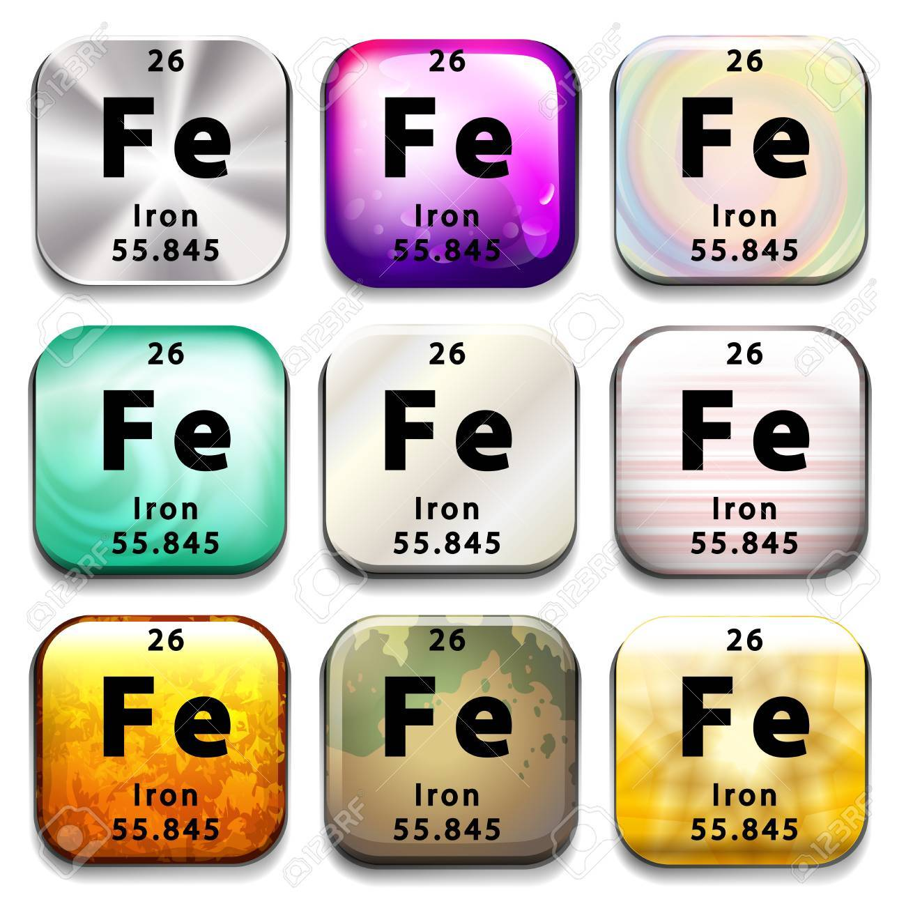 A periodic table button showing iron on a white background royalty a periodic table button showing iron on a white background stock vector 35581470 gamestrikefo Gallery