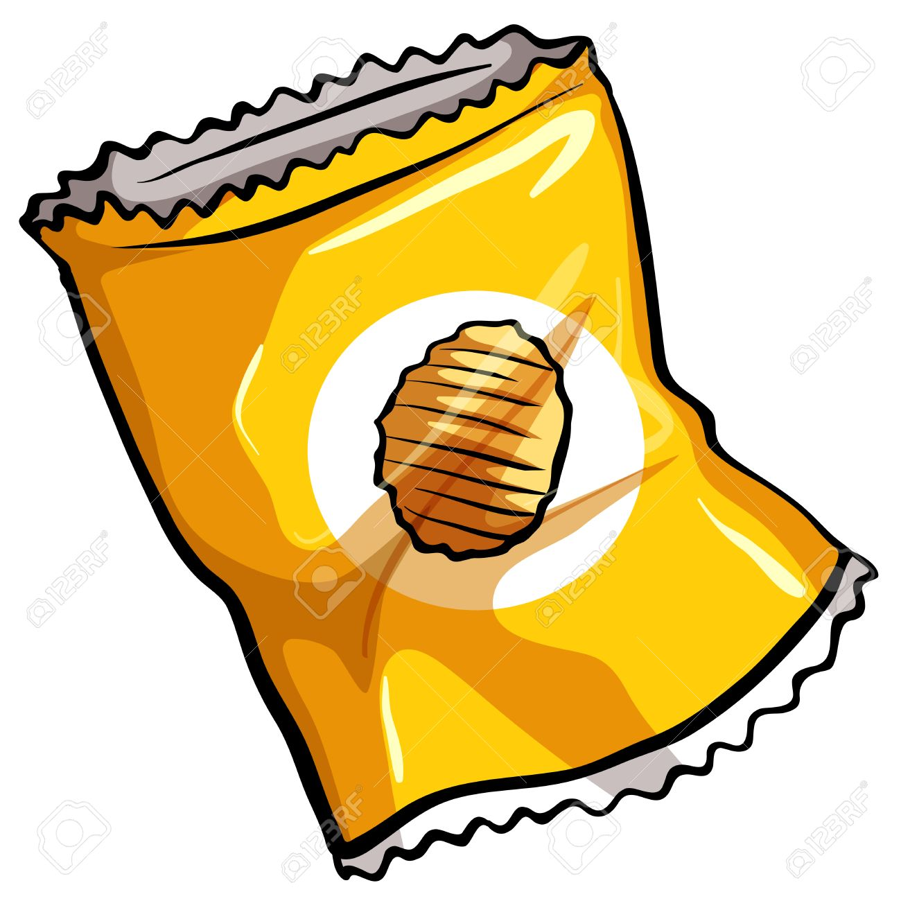 A Pouch Of Potato Chips On A White Background Royalty Free ...