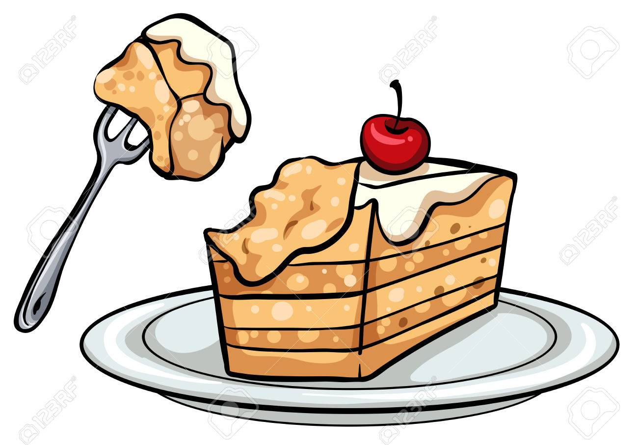 slice of cake on a white background royalty free cliparts vectors rh 123rf com