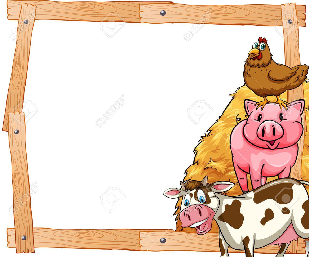 Farm Animals Frame Stock Photos. Royalty Free Farm Animals Frame Images
