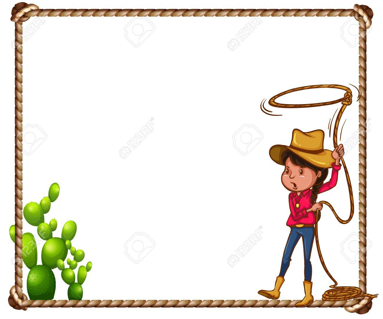 402 Cowboy Border Stock Vector Illustration And Royalty Free Cowboy