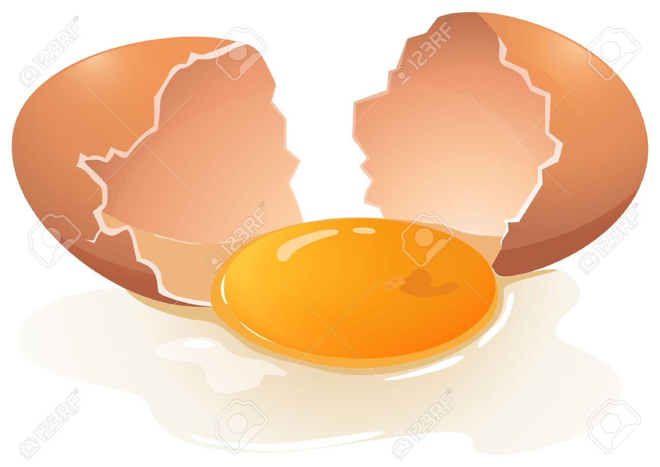 Cracking Egg With Egg Yolk In The Middle Royalty Free Cliparts ... for Clipart Yolk  568zmd