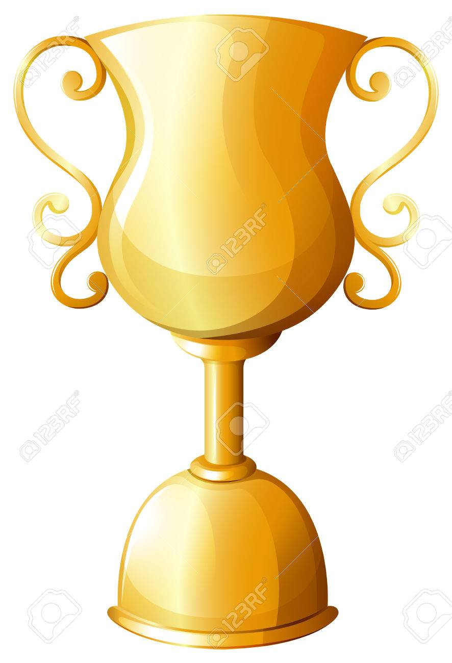 Golden Trophy In Classic Design Stock Vector