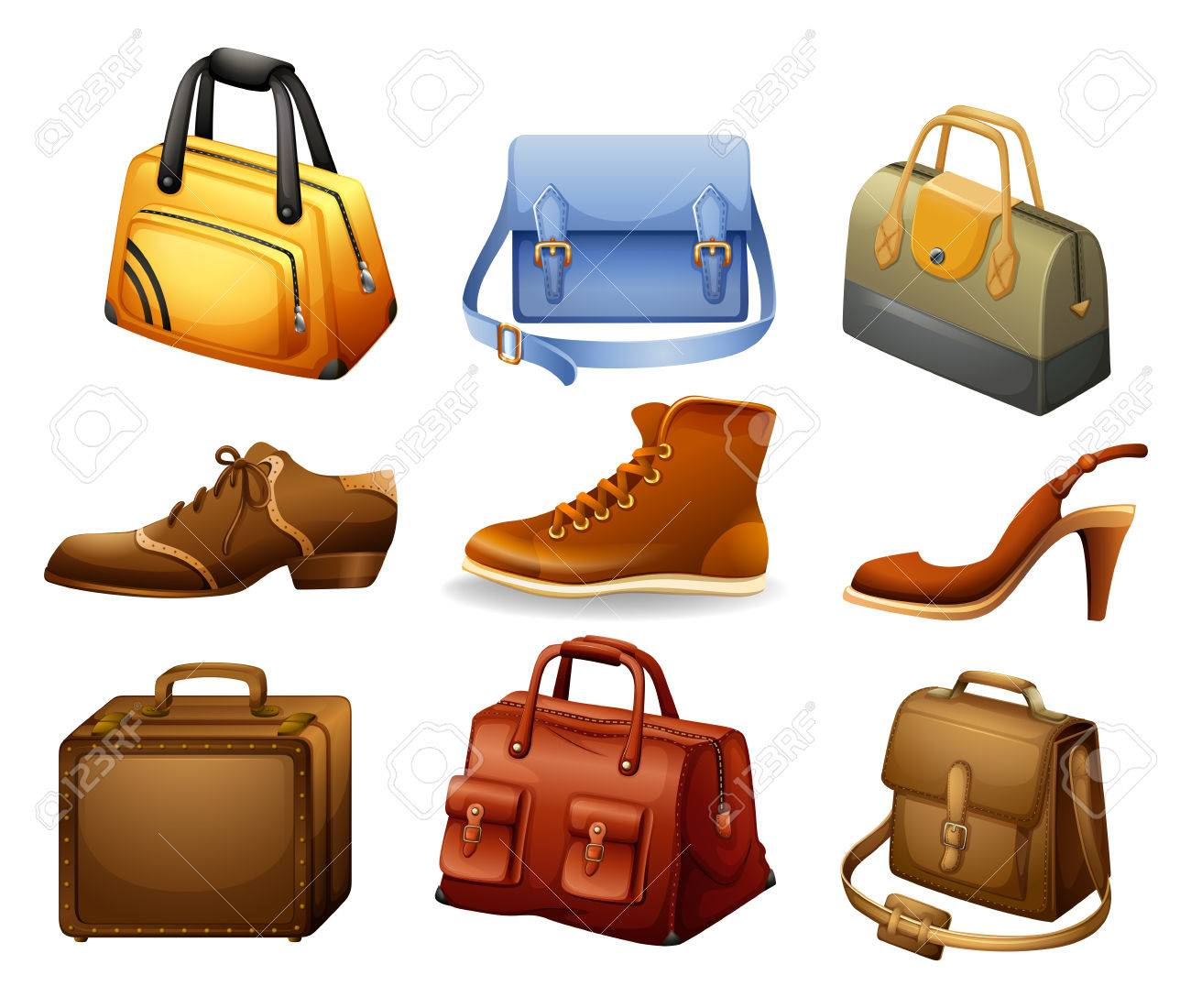965abdb6f8bc Shoes and leather bags in modern design
