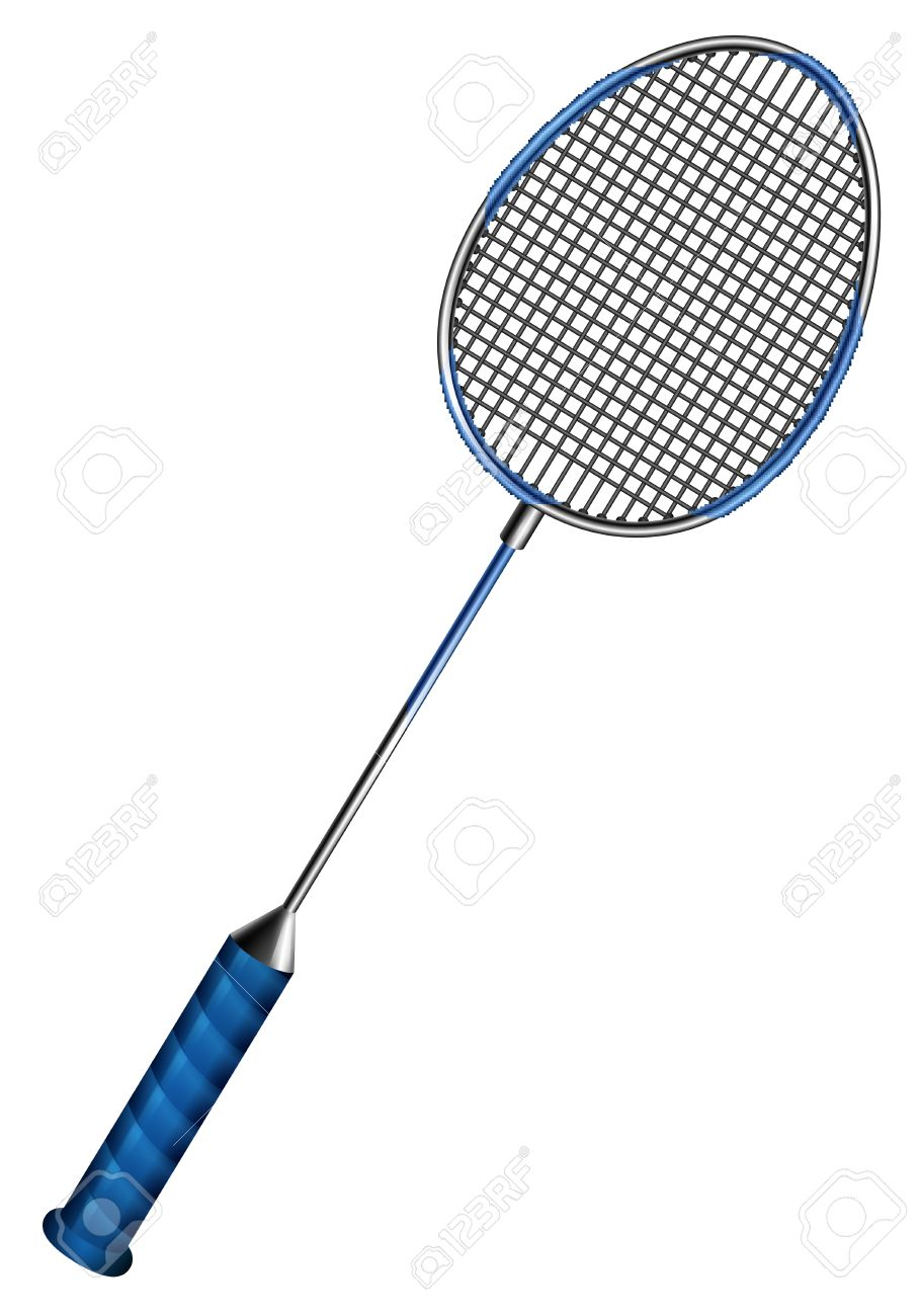 blue badminton racket with net royalty free cliparts vectors and