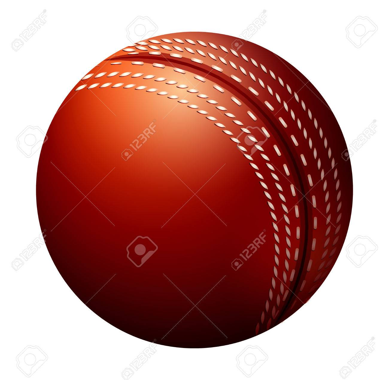 Single Cricket Ball Made Of Leather