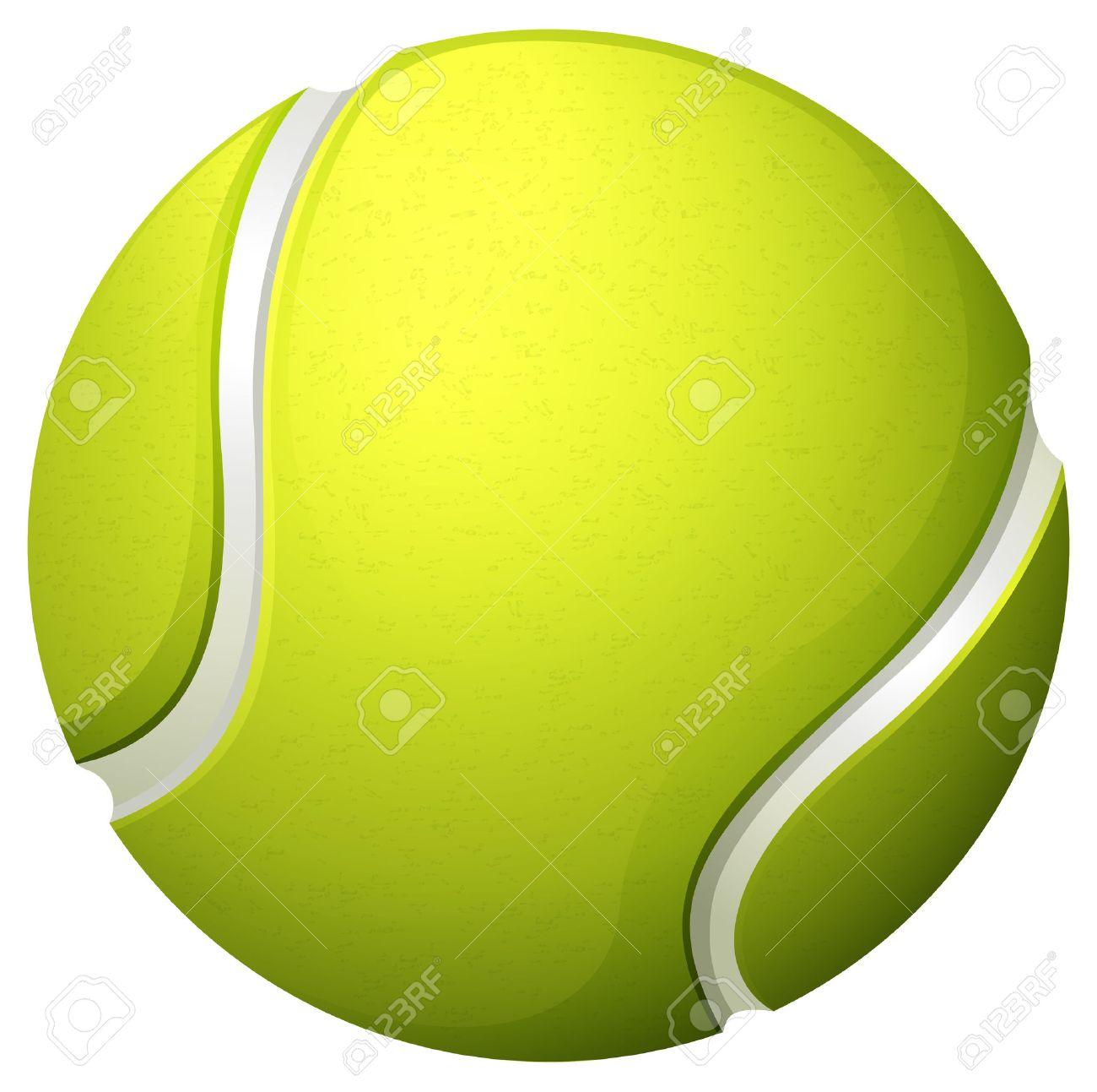 シングル ライト グリーン テニス ボール イラスト ロイヤリティフリー