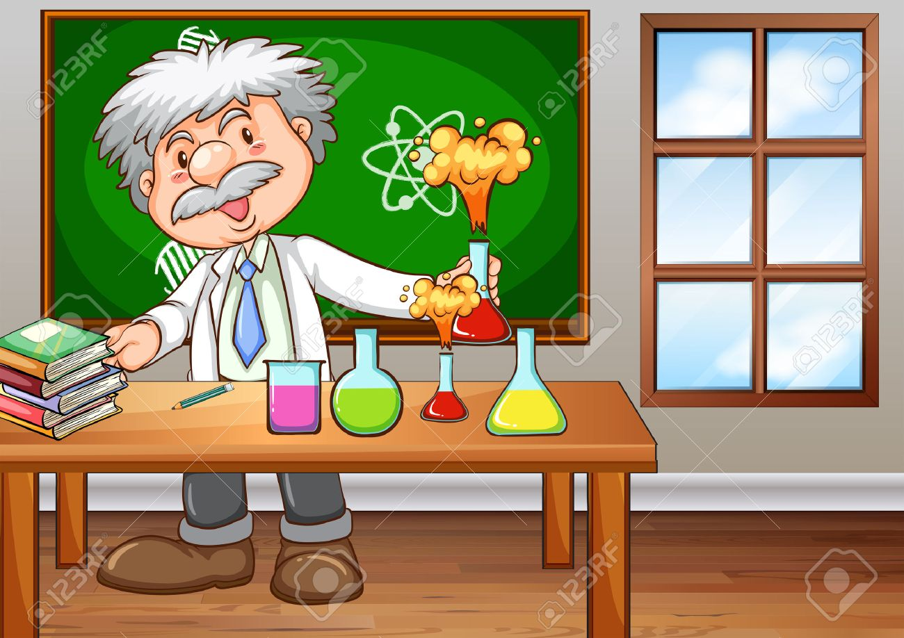 Pics photos clip art cartoon scientist with question mark stock - Scientist Cartoon Scientist Working In The Lab