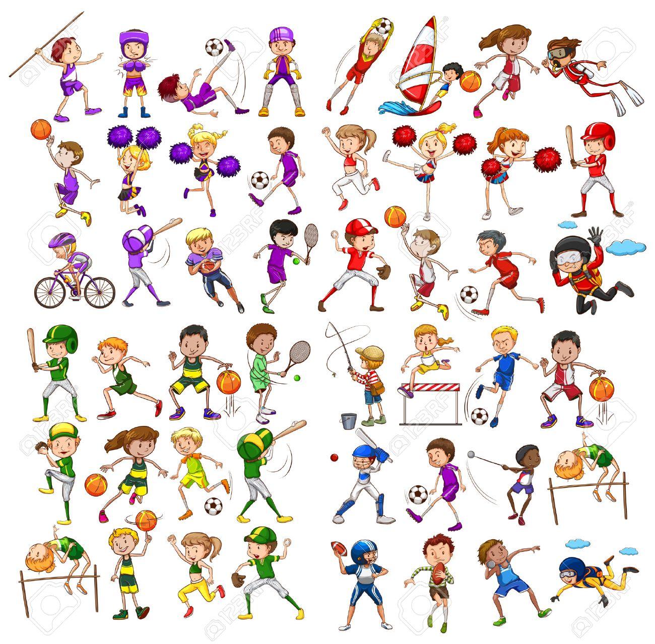 様々 な子供スポーツのイラスト ロイヤリティフリークリップアート