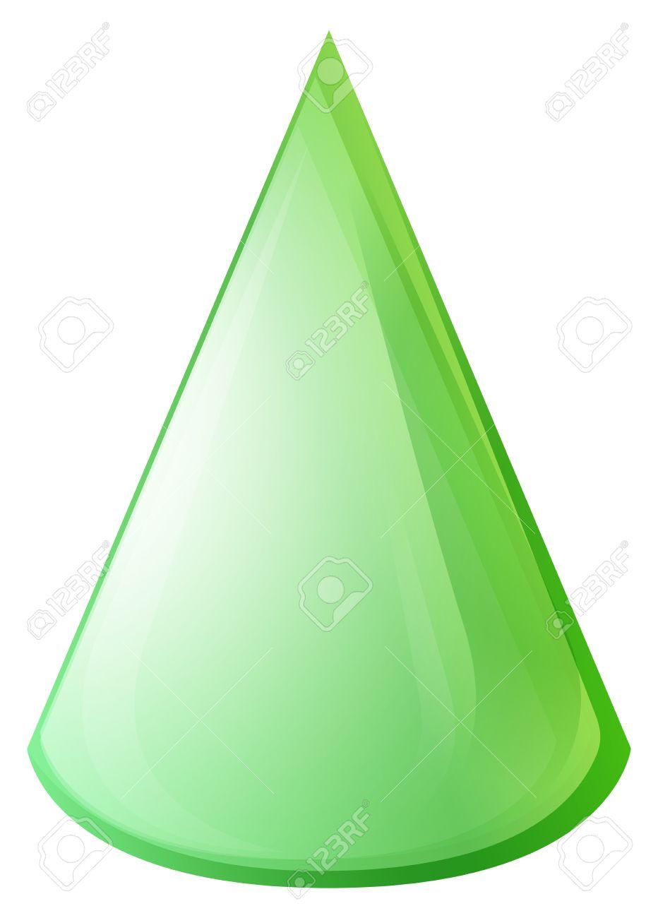 el color verde en forma de cono ilustracin foto de archivo