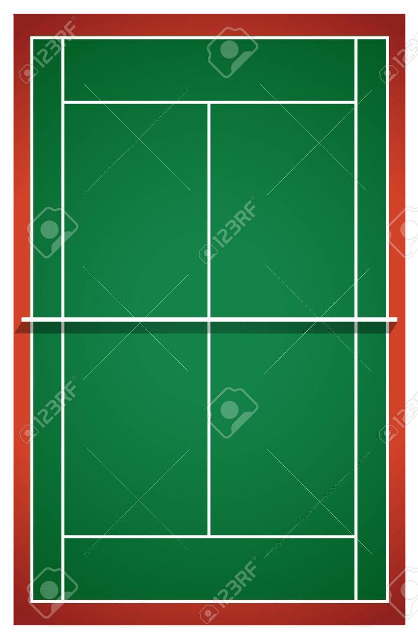 上面図からテニスコートのイラスト素材ベクタ Image 44510991