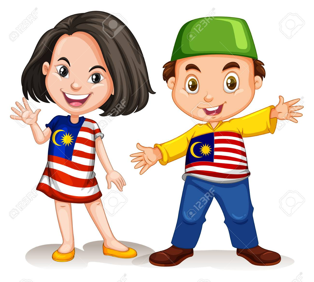 Malaysian girl and boy greeting illustration royalty free cliparts malaysian girl and boy greeting illustration stock vector 44806402 m4hsunfo