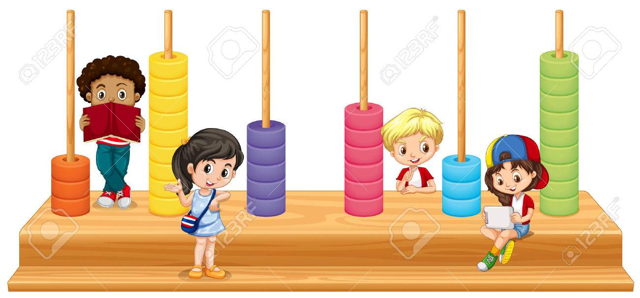 Children And Math Game Illustration Royalty Free Cliparts, Vectors ...