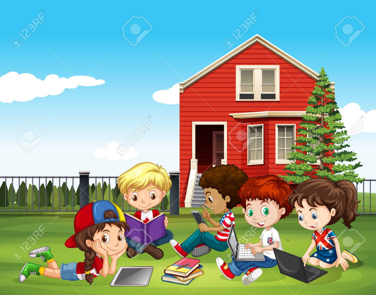 Outside Picture for Classroom / Therapy Use - Great Outside Clipart