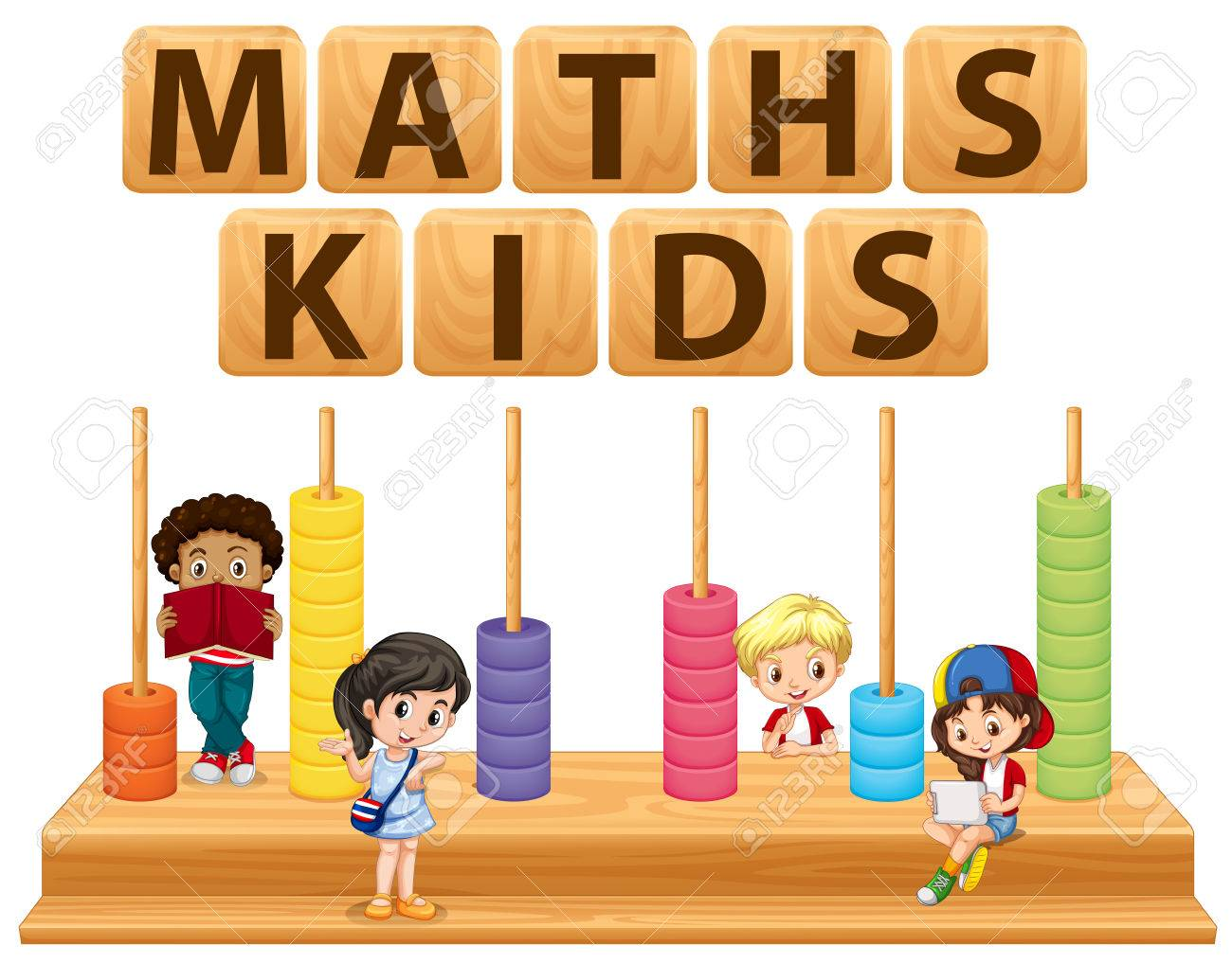 Children And Math Toy Illustration Royalty Free Cliparts, Vectors ...