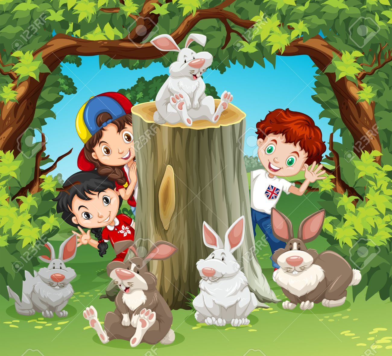 Cute Rabbit Bunny Cony Wild Animal Zoo Cartoon Children Kids Iron-On Patch #A088