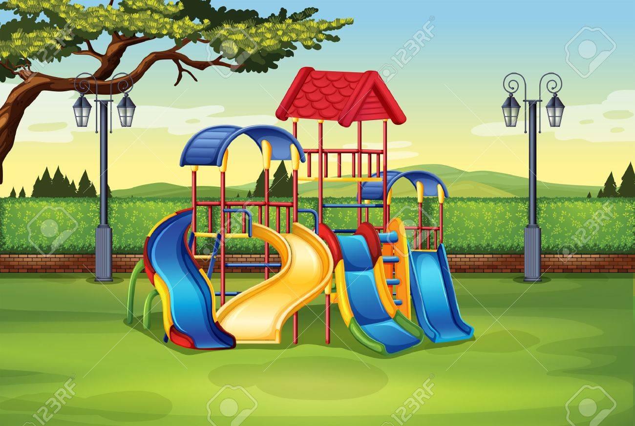 playground cartoon stock photos. royalty free playground cartoon images