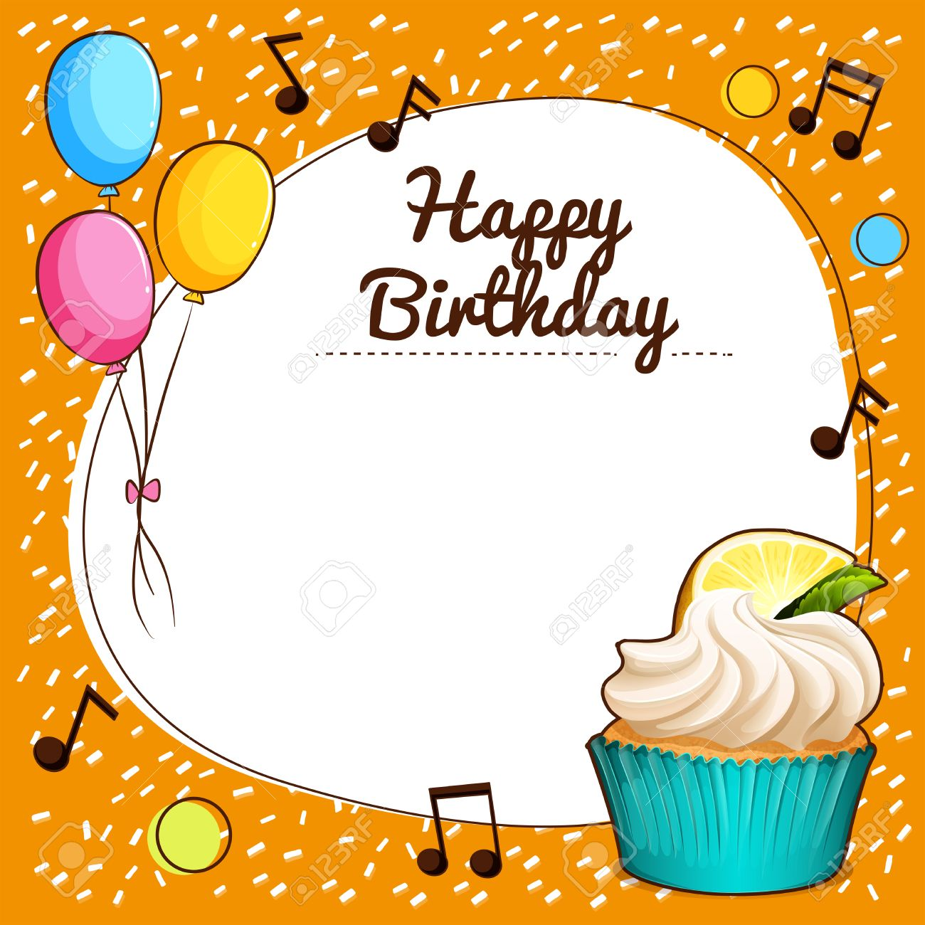 birthday theme Border Design With Happy Birthday Theme Illustration Royalty Free  birthday theme