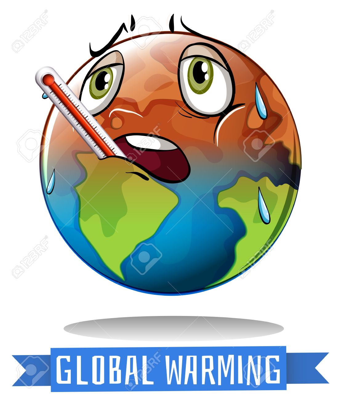 A Poster On Save Earth From Global Warming