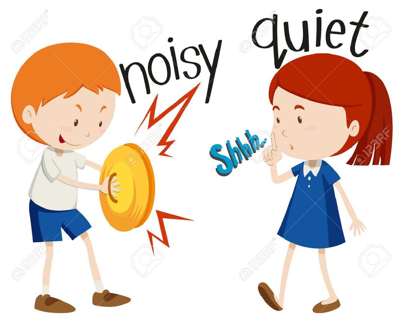 Opposite Adjectives Noisy And ...