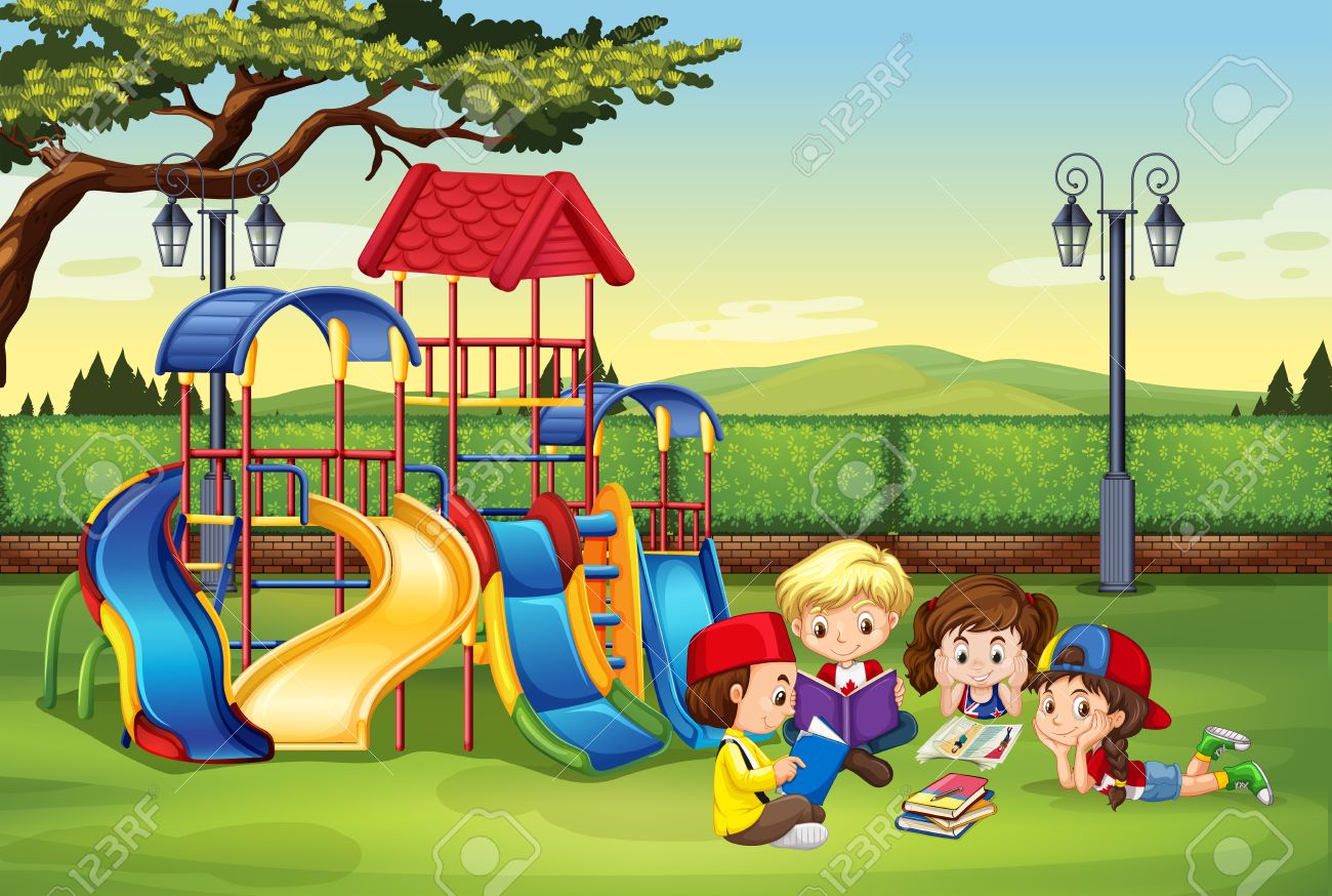 Image result for reading playground