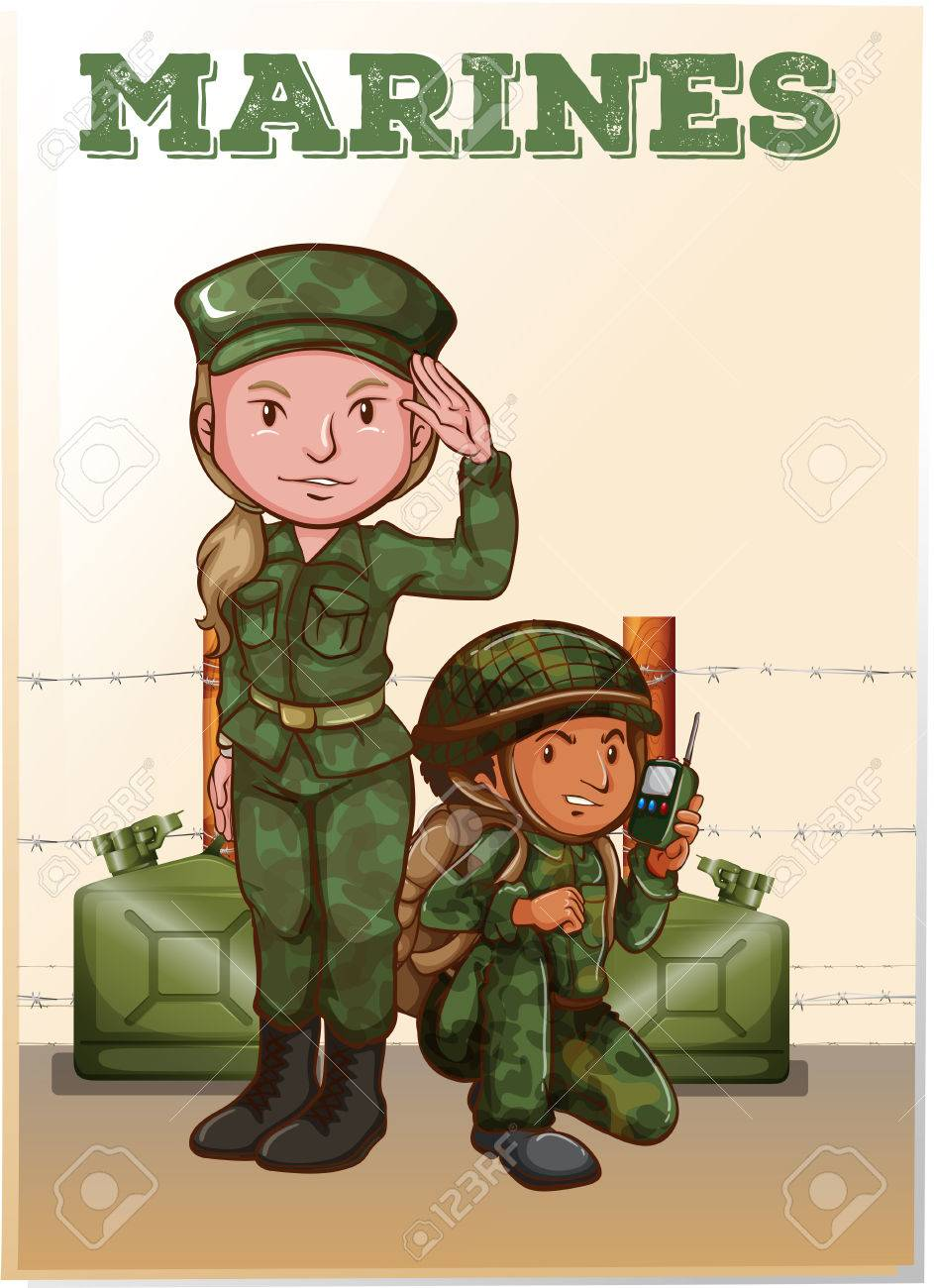 Soldiers in the Field Clip Art