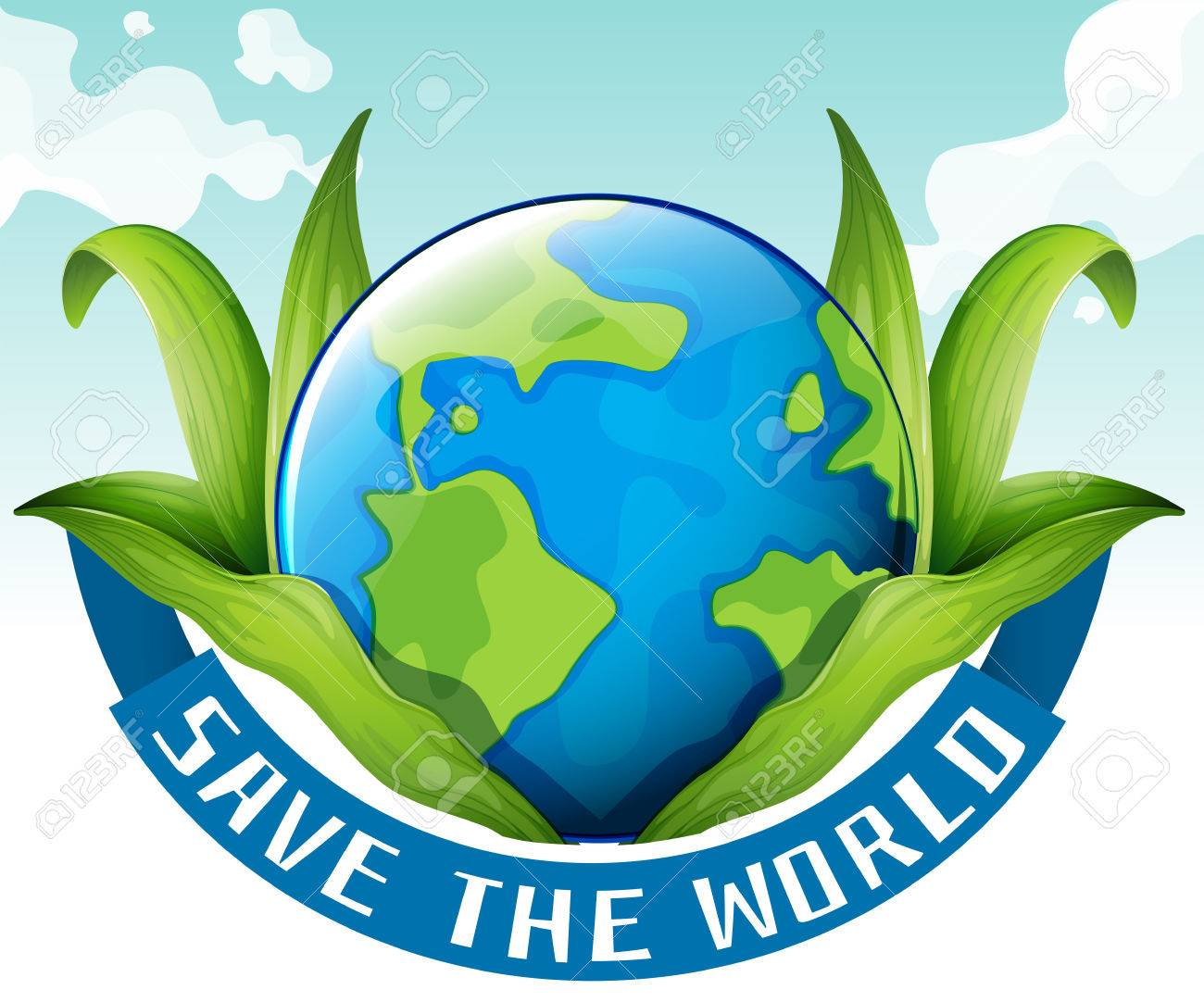 save the world theme with earth and leaves illustration royalty free rh 123rf com Save the Earth Logo save mother earth clip art