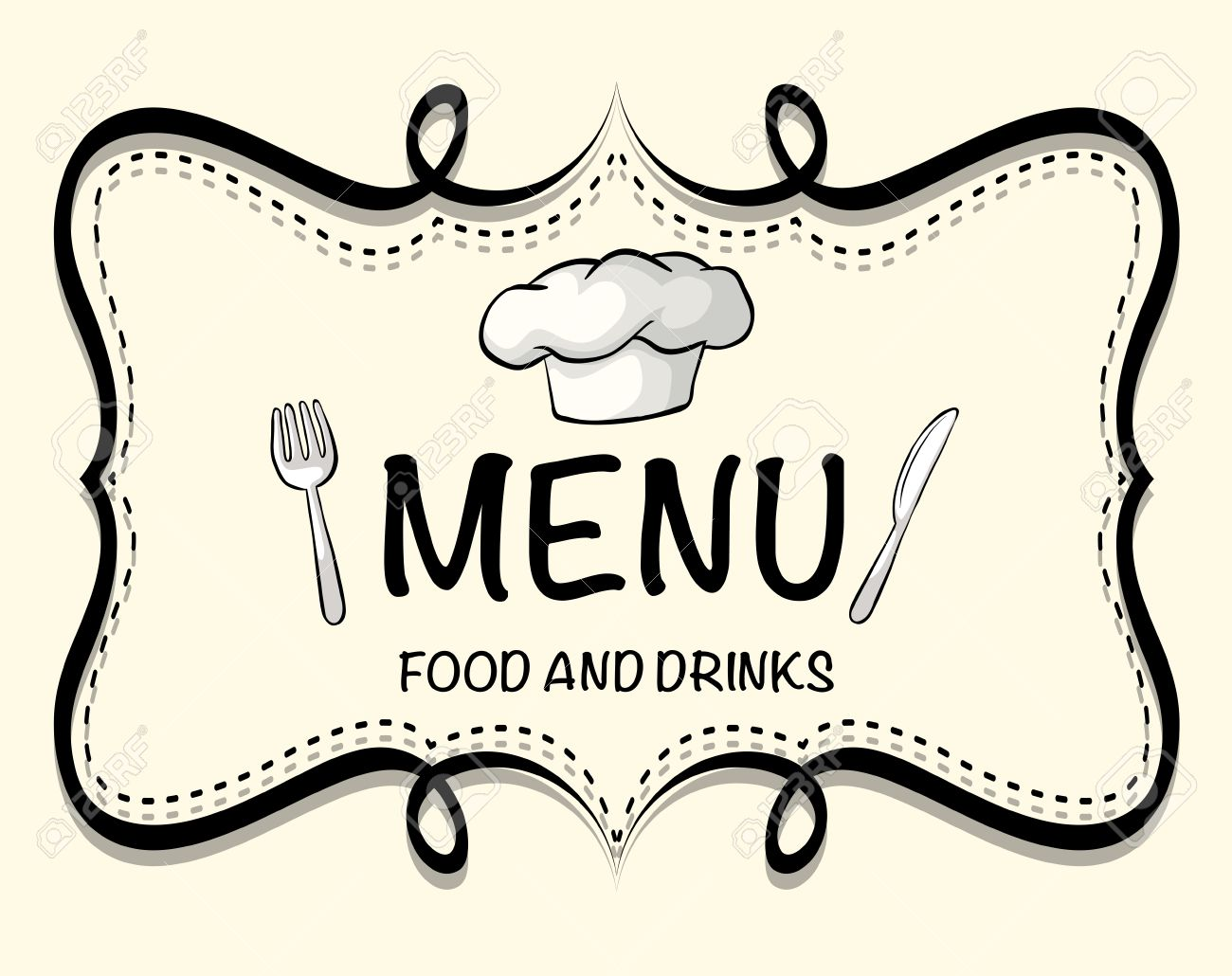 logo design of restaurant menu illustration royalty free cliparts