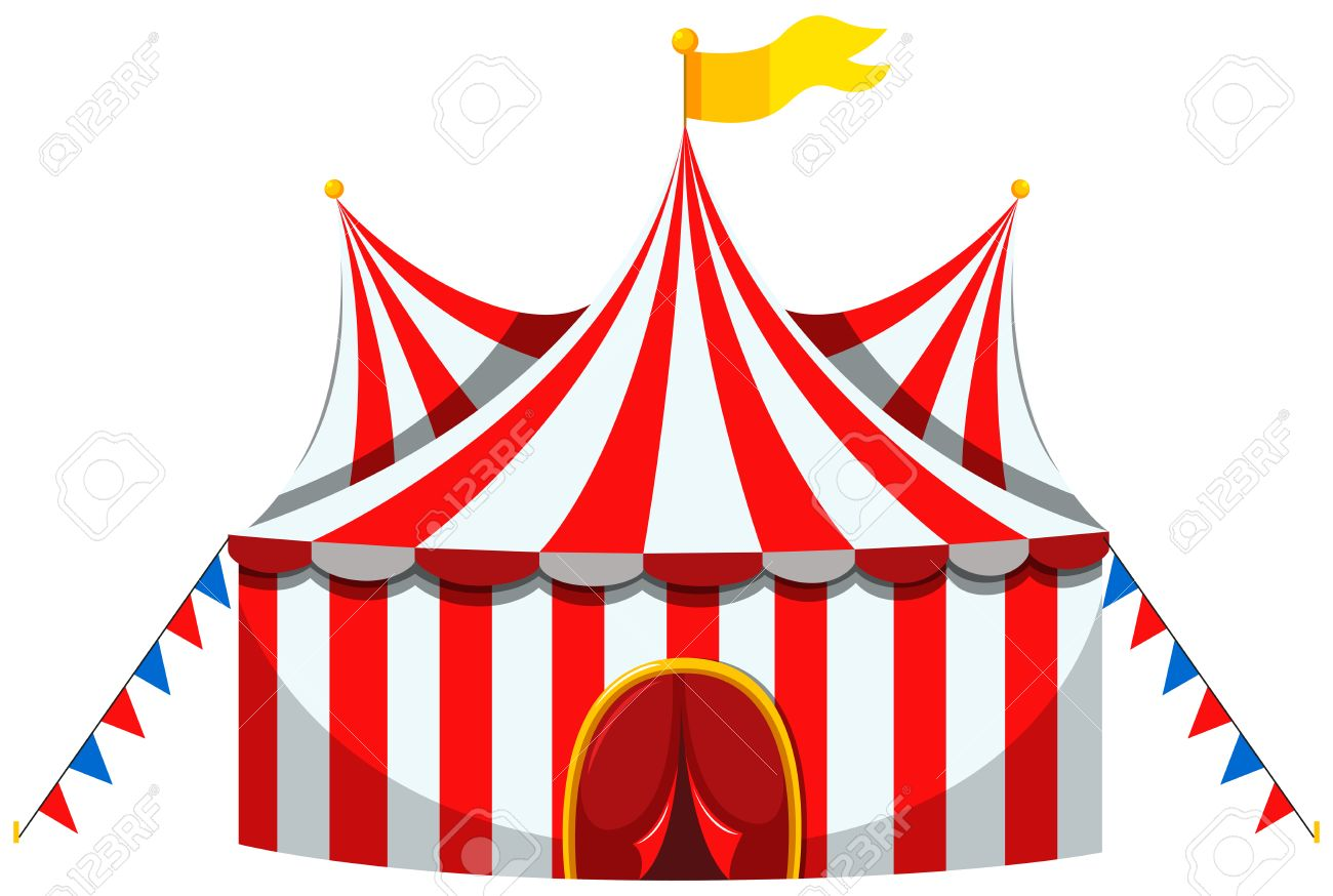 circus tent in red and white striped illustration royalty free rh 123rf com vintage circus tent clipart big circus tent clip art