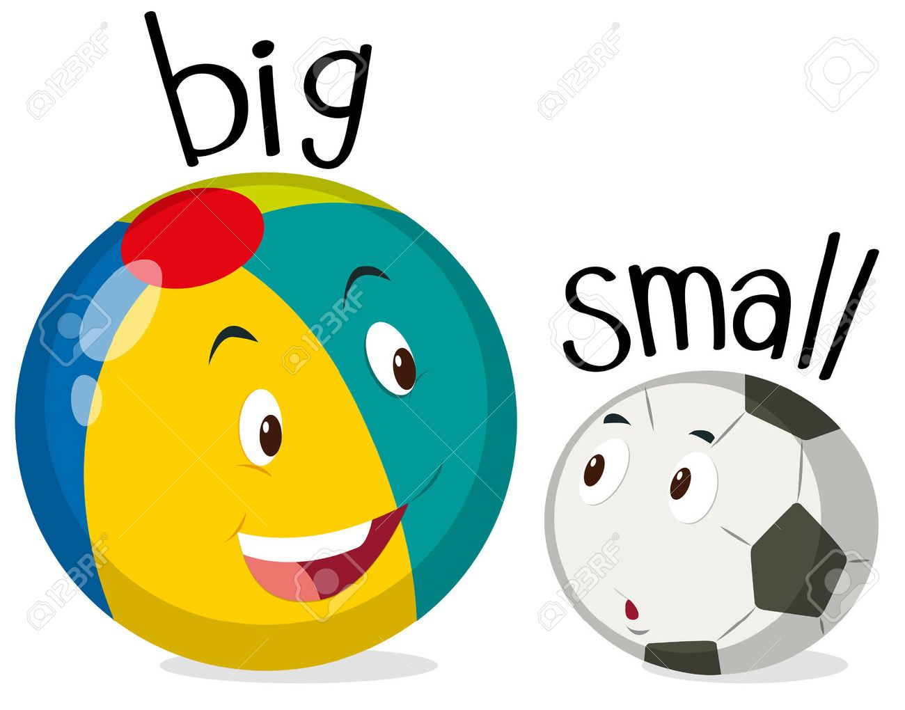 two balls one big and one small illustration royalty free cliparts rh 123rf com bing clip art free download big clip art in black and white