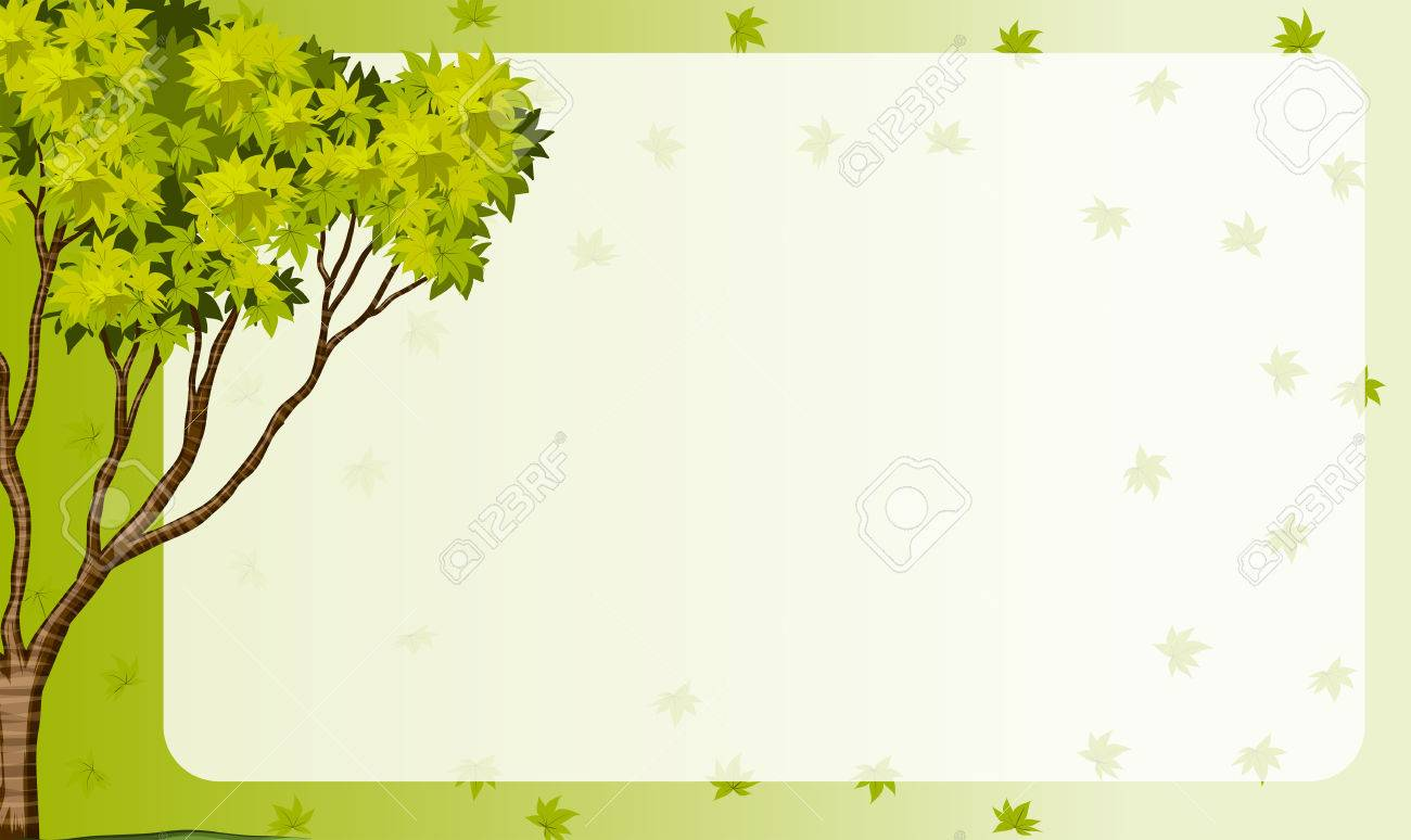 border frame with nature theme illustration royalty free cliparts