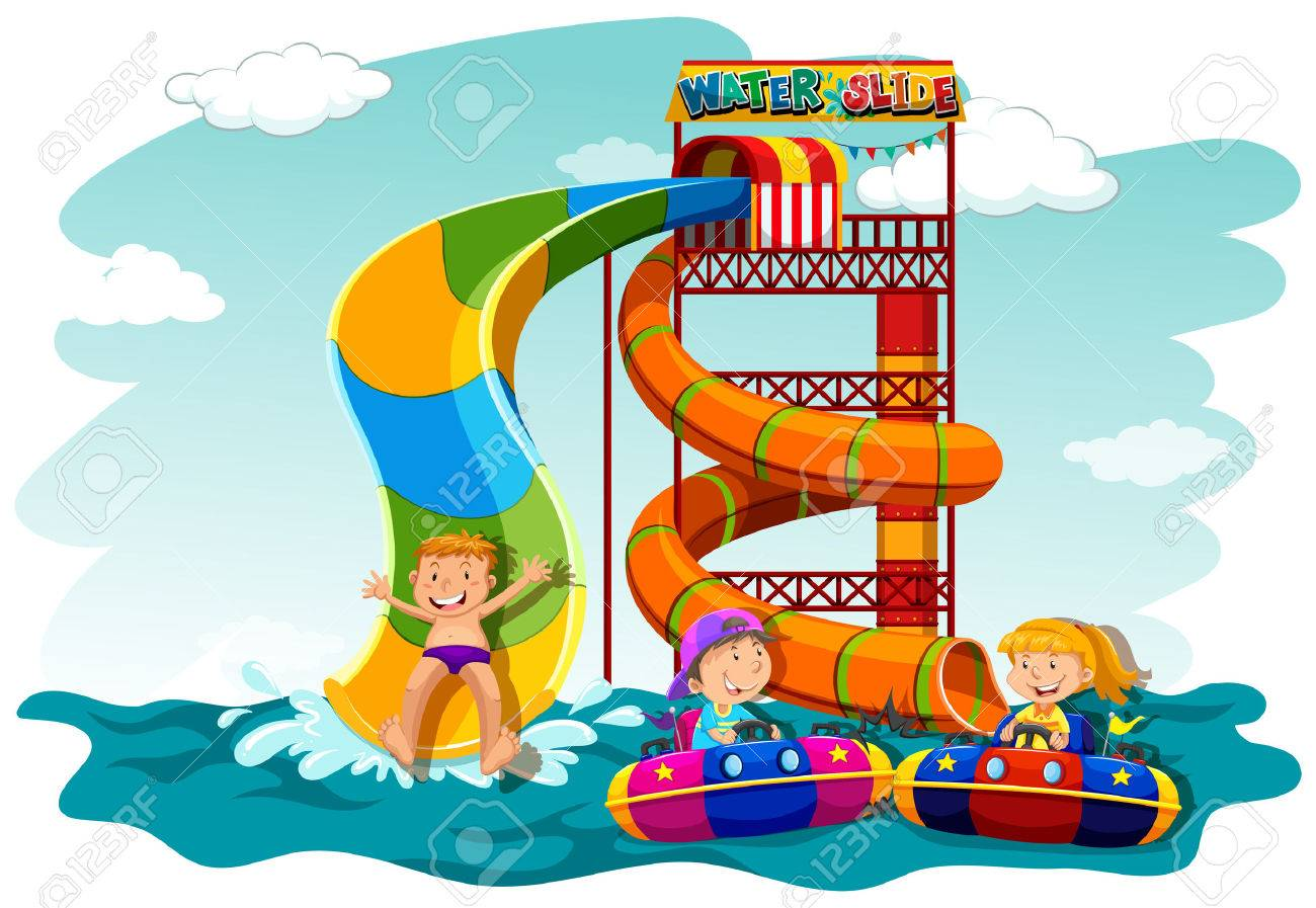 Clipart Bouncy Castle Water Slide Pool - Inflatable Water Slide Clipart -  Free Transparent PNG Clipart Images Download