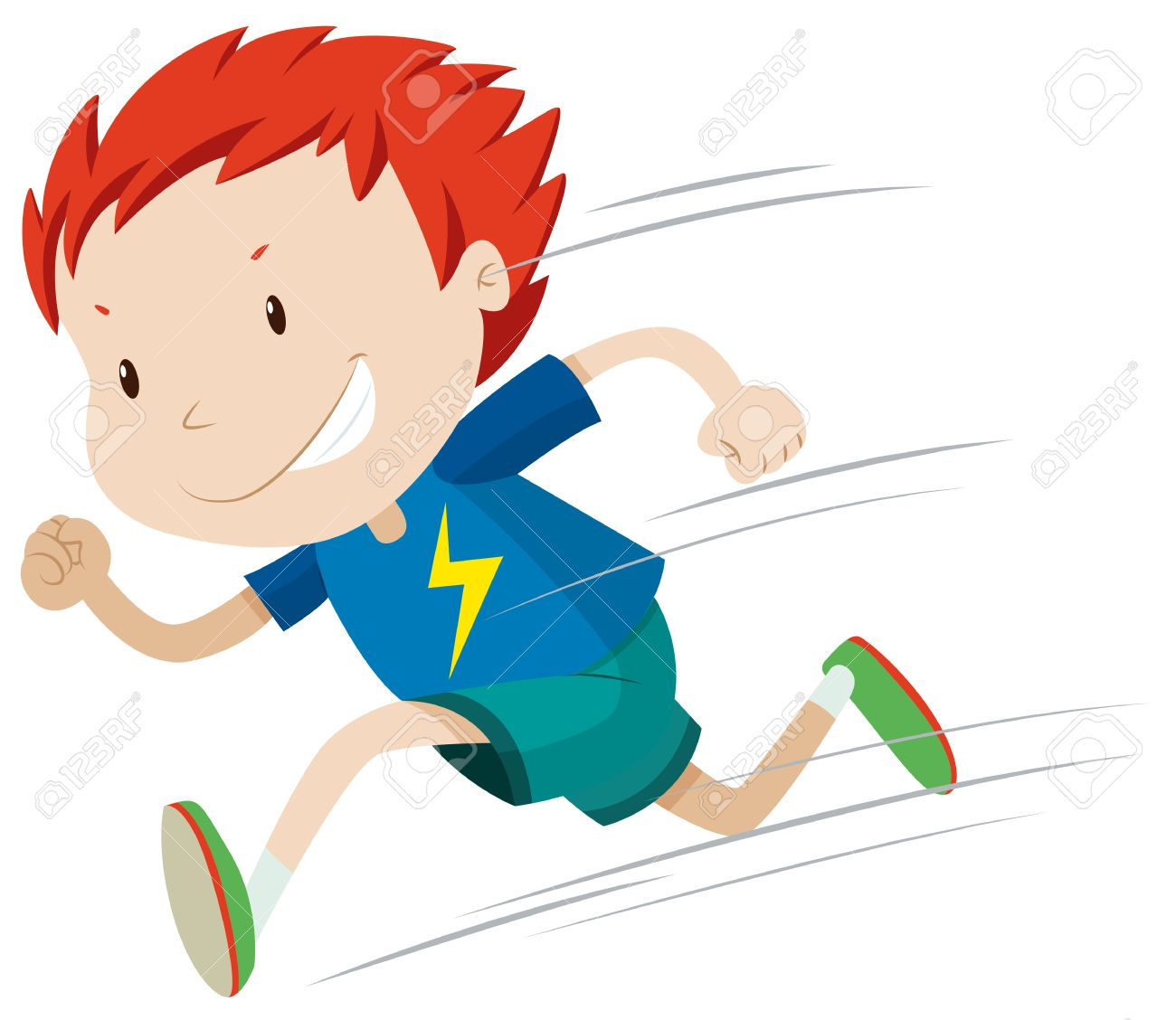 boy running very fast illustration royalty free cliparts vectors rh 123rf com clip art running people clip art running track
