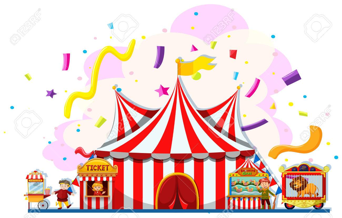 People Working At The Carnival Illustration Royalty Free Cliparts ...