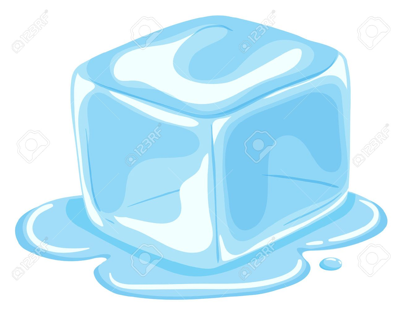 piece of ice cube melting illustration royalty free cliparts rh 123rf com cartoon ice cube clip art ice cube clip art black and white