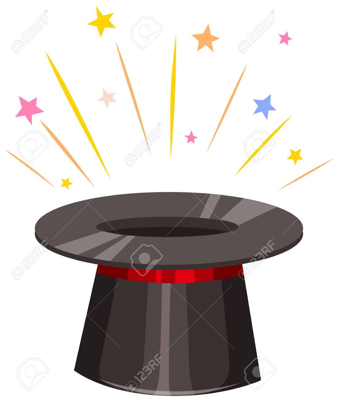 21640ef71e3 Close up ilustración sombrero mágico
