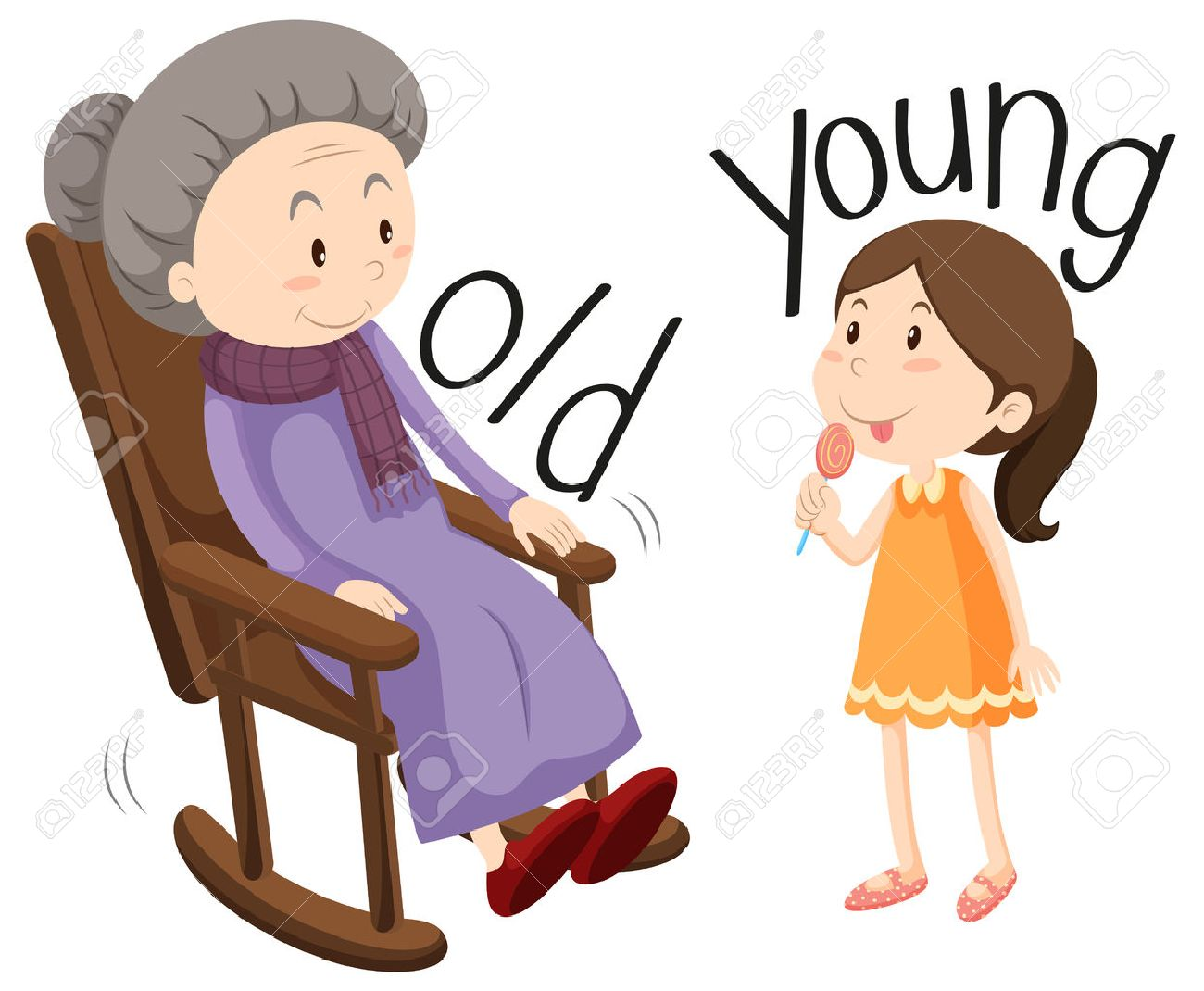 old & young