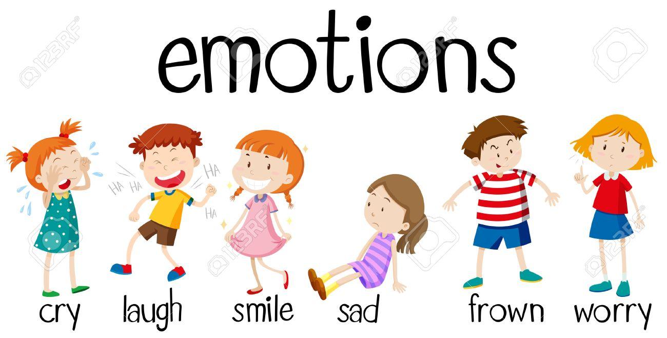 children expressing different emotions illustration royalty free rh 123rf com clip art emoticons free clip art emotions faces