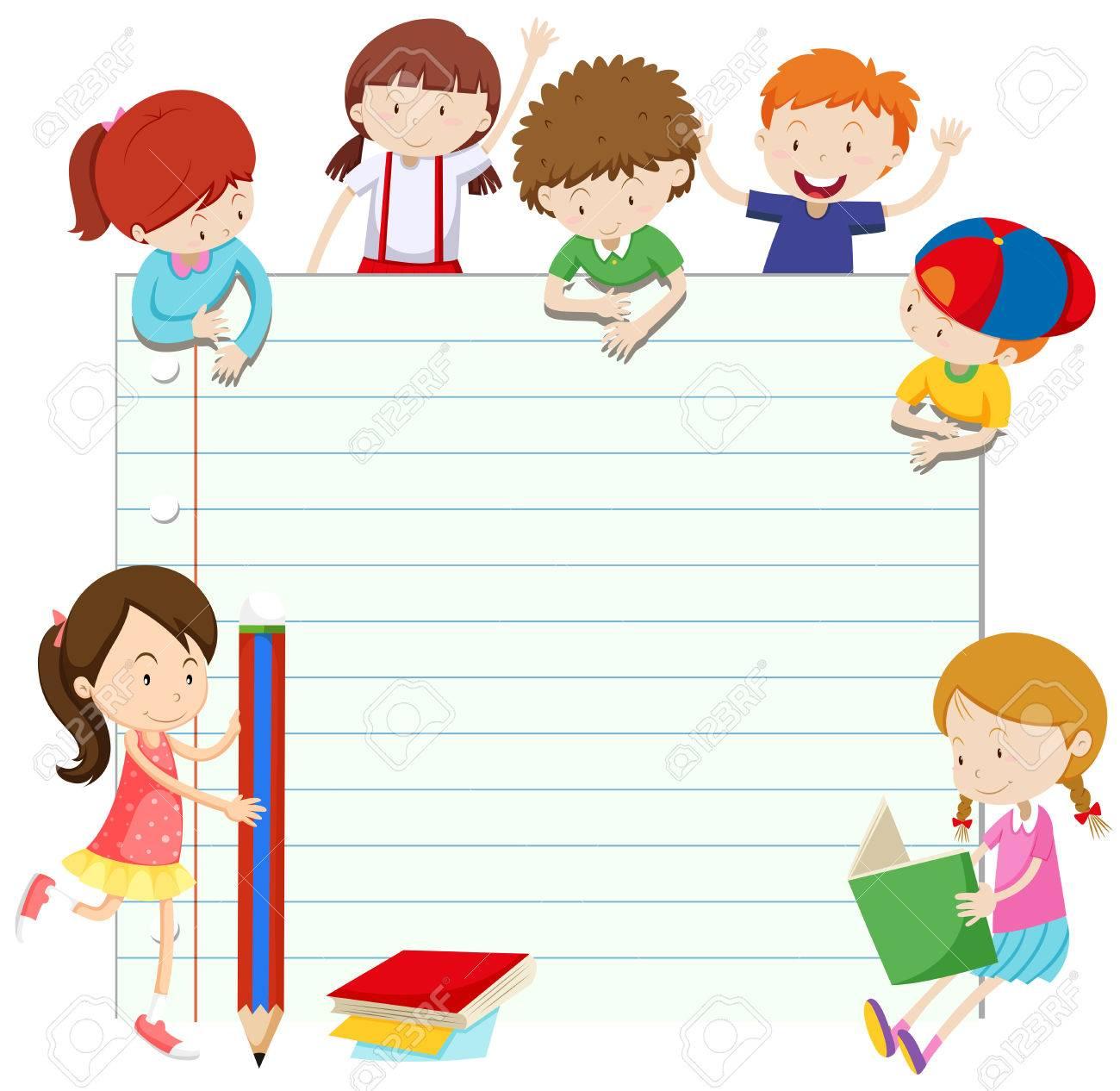 Diseño Del Papel De Acuerdo Con Niños Y Niñas De La Ilustración ...