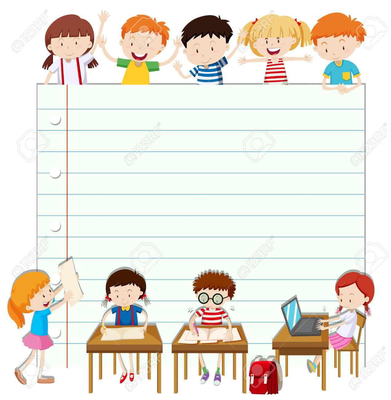 児教室イラストのライン設計のイラスト素材ベクタ Image 51552214