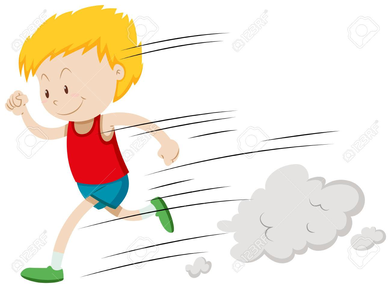 little boy running fast illustration royalty free cliparts vectors rh 123rf com boy running clipart black and white boy running away clipart