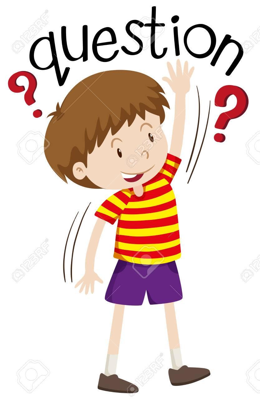 Niño Pequeño Que Hace La Pregunta Ilustración Ilustraciones ... 1e04c64f4d3