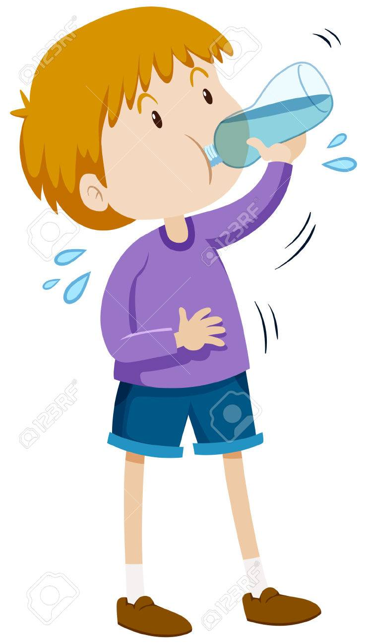 boy drinking water from bottle illustration royalty free cliparts rh 123rf com girl drinking water clipart kid drinking water clipart