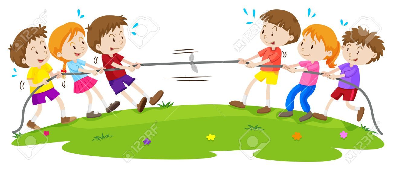 kids playing tug of war at the park illustration royalty free rh 123rf com tug o war clipart tug of war images clip art