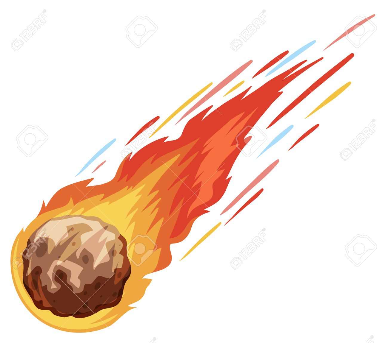 comet falling down fast illustration royalty free cliparts vectors rh 123rf com