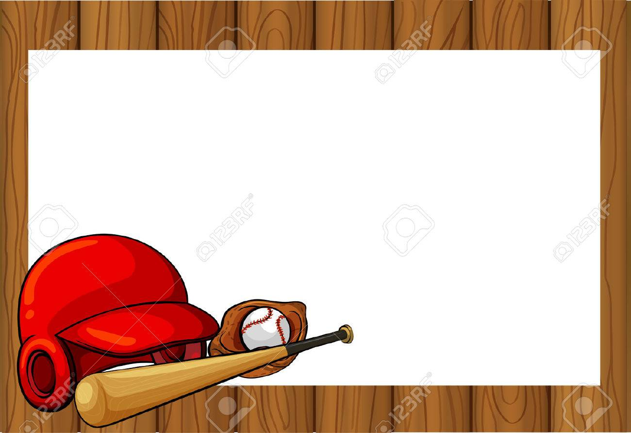 Diseño De Marco Con La Ilustración De Equipos De Béisbol ...