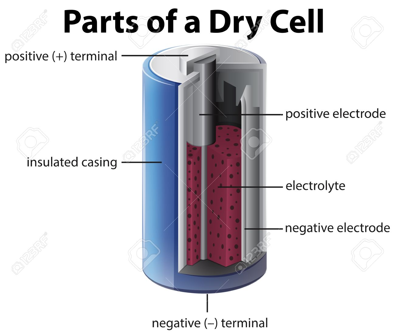 Diagram Showing Inside Of Battery Illustration Royalty Free How Does A Rechargeable Battery Work What Is A Battery Cell What Does A Battery Do In A Circuit