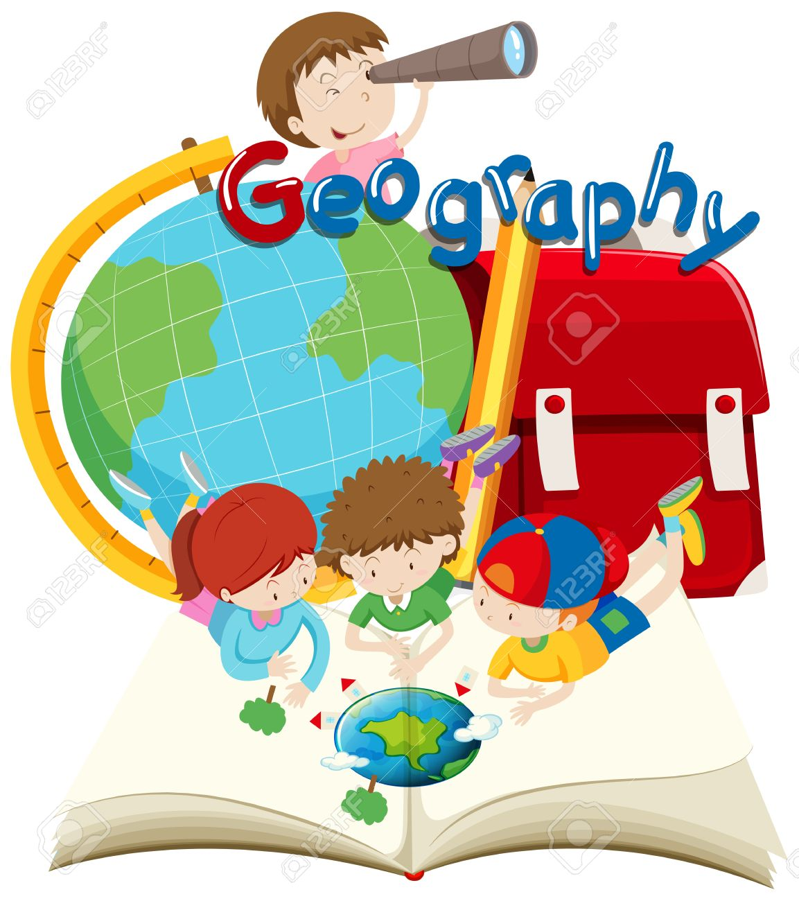 students and geography subject illustration royalty free cliparts rh 123rf com geography clips geography clips ks2