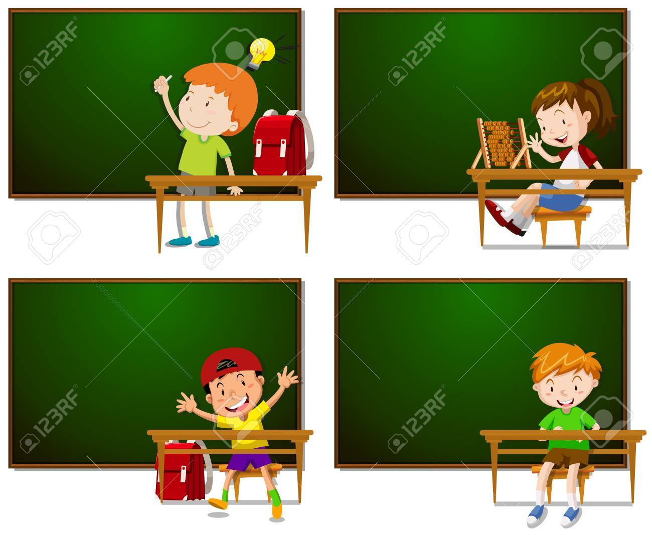 Frames With Boys And Girls Illustration Royalty Free Cliparts ...